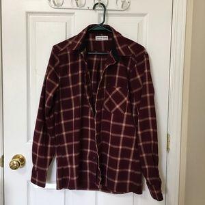 American Apparel Maroon Flannel